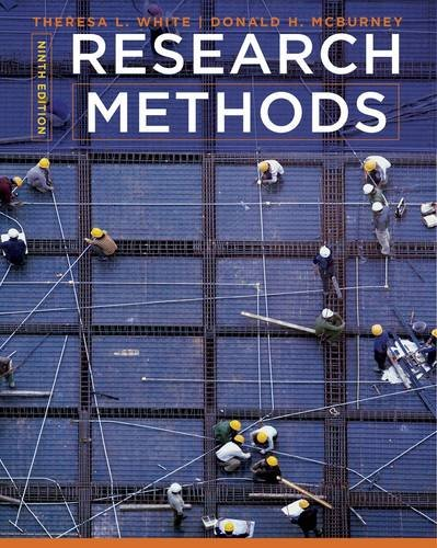 Research Methods  9th 2013 edition cover