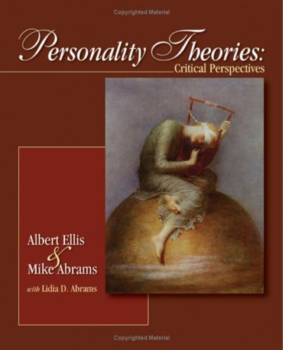 Personality Theories Critical Perspectives  2009 edition cover