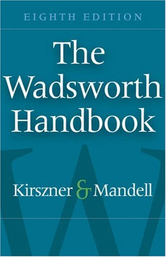 Wadsworth Handbook  8th 2008 (Revised) 9781413030624 Front Cover
