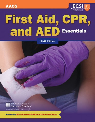First Aid, CPR, and AED Essentials  6th 2013 edition cover