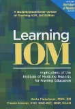 Learning IOM Implications of the Institute of Medicine Reports for Nursing Education N/A edition cover
