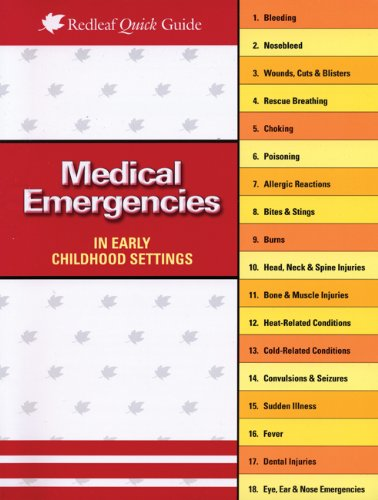 Medical Emergencies in Child Care Settings   2008 edition cover