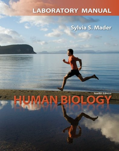 Lab Manual for Human Biology  12th 2012 edition cover
