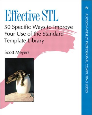 Effective STL 50 Specific Ways to Improve Your Use of the Standard Template Library  2001 edition cover