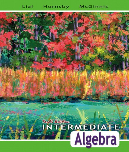 Intermediate Algebra  10th 2008 9780321443625 Front Cover