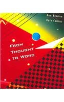 From Thought to Word   2001 edition cover