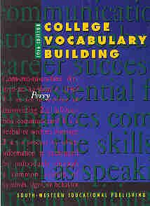 College Vocabulary Building  10th 1999 (Revised) 9780538717625 Front Cover