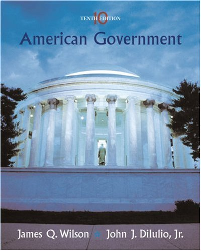 American Government Institutions and Policies 10th 2006 edition cover