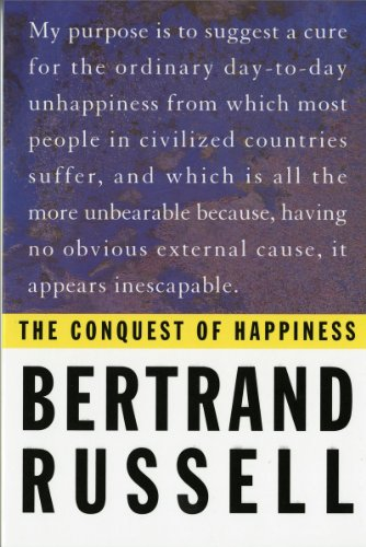Conquest of Happiness Bertrand Russell   1958 (Reprint) edition cover