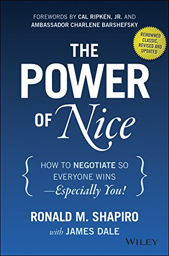 Power of Nice How to Negotiate So Everyone Wins - Especially You! 3rd 2015 9781118969625 Front Cover