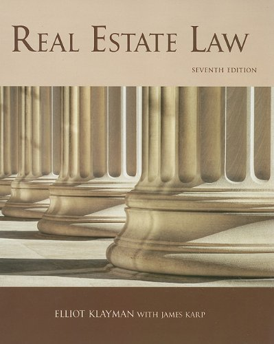 Real Estate Law, 7th Edition 7th 2009 edition cover