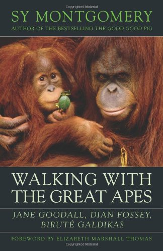 Walking with the Great Apes Jane Goodall, Dian Fossey, Birute Galdikas  2009 9781603580625 Front Cover