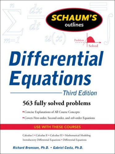 Differential Equations  3rd 2009 edition cover