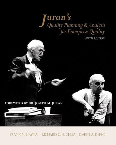 Juran's Quality Planning and Analysis for Enterprise Quality  5th 2007 (Revised) edition cover