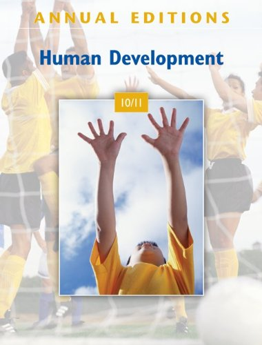 Human Development 10/11  39th 2011 9780078050626 Front Cover