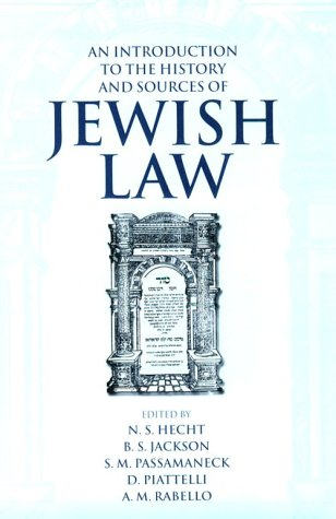 Introduction to the History and Sources of Jewish Law   1996 9780198262626 Front Cover