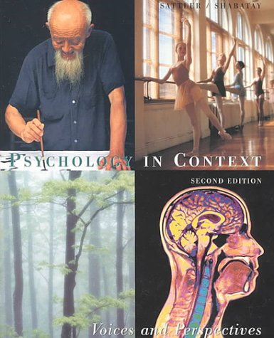 Psychology in Context Voices and Perspectives 2nd 2000 edition cover