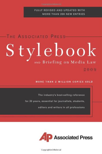 Associated Press Stylebook 2009  43rd (Revised) edition cover