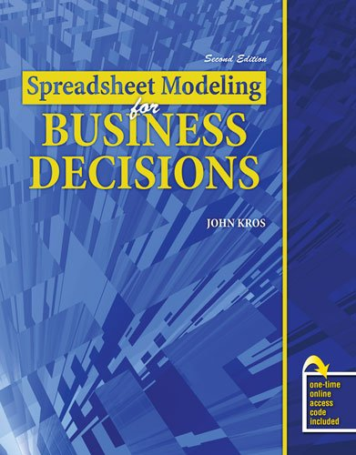 Spreadsheet Modeling for Business Decisions  2nd 2009 (Revised) 9780757571626 Front Cover