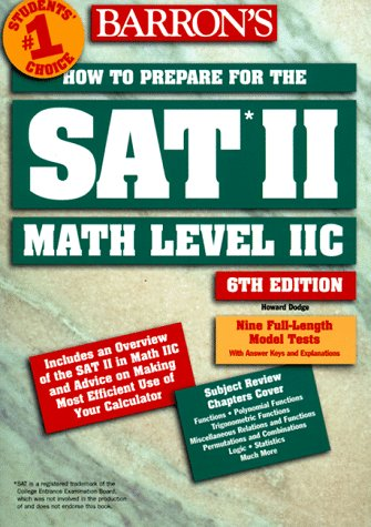How to Prepare for the SAT II Math II C 6th 1998 (Revised) 9780764104626 Front Cover