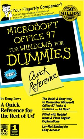 Microsoft Office 97 for Windows for Dummies Quick Reference  1996 9780764500626 Front Cover