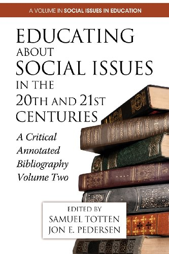Educating About Social Issues in the 20th and 21st Centuries: A Critical Annotated Bibliography  2013 edition cover