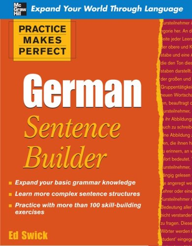 German Sentence Builder   2010 9780071599627 Front Cover