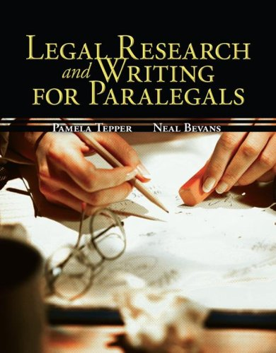 Legal Research and Writing for Paralegals   2009 edition cover