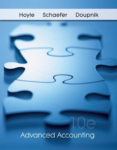 Advanced Accounting 10th 2011 edition cover