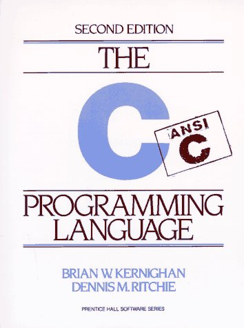 C Programming Language  2nd 1988 (Revised) edition cover