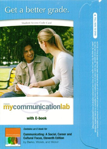 Communicating  11th 2010 9780205747627 Front Cover