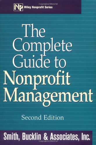 Complete Guide to Nonprofit Management  2nd 2000 (Revised) edition cover