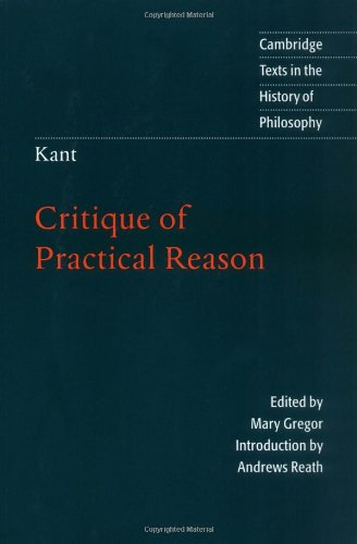 Kant Critique of Practical Reason  1997 edition cover