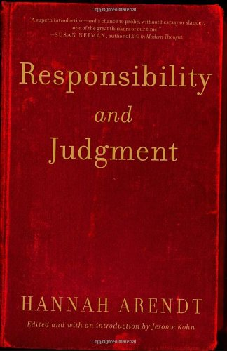 Responsibility and Judgment   2005 9780805211627 Front Cover