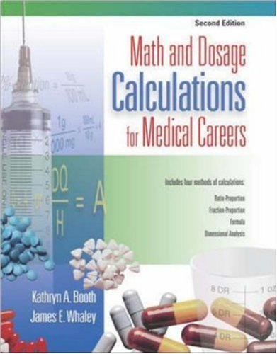 Math and Dosage Calculations for Medical Careers  2nd 2007 9780073022628 Front Cover