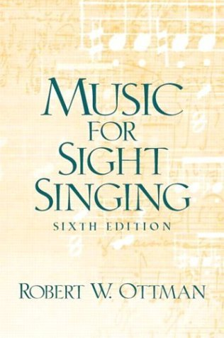 Music for Sightsinging  6th 2004 (Revised) edition cover