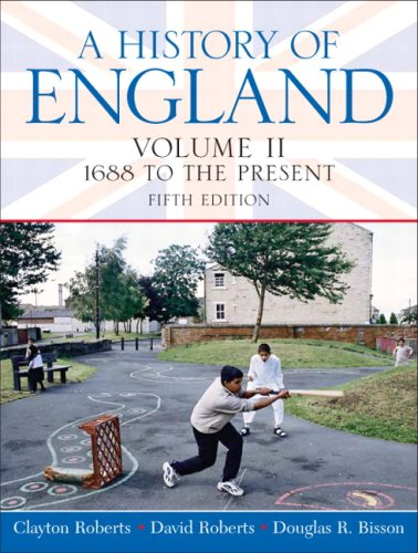 History of England 1688 to the Present 5th 2009 edition cover