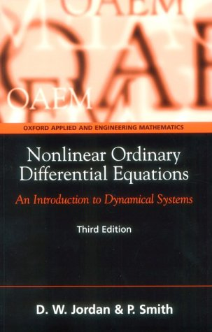 Nonlinear Ordinary Differential Equations An Introduction to Dynamical Systems 3rd 1999 (Revised) edition cover