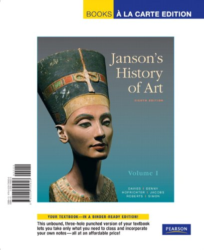 Janson's History of Art The Western Tradition 8th 2011 edition cover