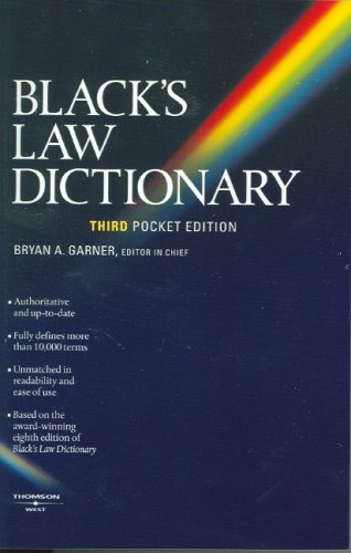Black's Law Dictionary  3rd 2007 (Revised) edition cover