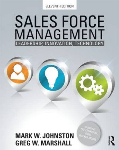 Sales Force Management Leadership, Innovation, Technology 11th 2013 (Revised) edition cover