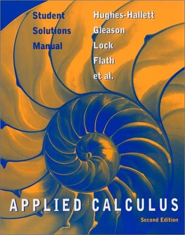 Student Solutions Manual to Accompany Applied Calculus  2nd 2003 9780471213628 Front Cover