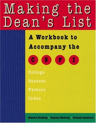 Making the Dean's List   2004 9780534248628 Front Cover