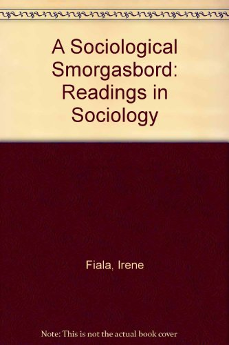 Sociological Smorgasbord Readings in Sociology Revised 9780757519628 Front Cover