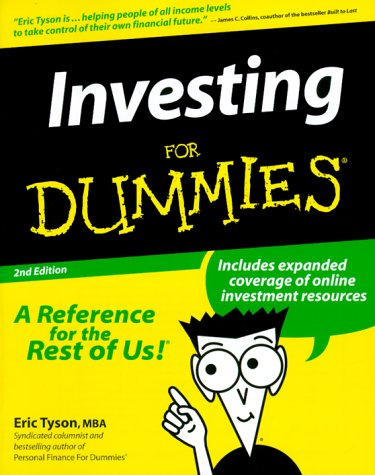 Investing for Dummies  2nd 1999 9780764551628 Front Cover