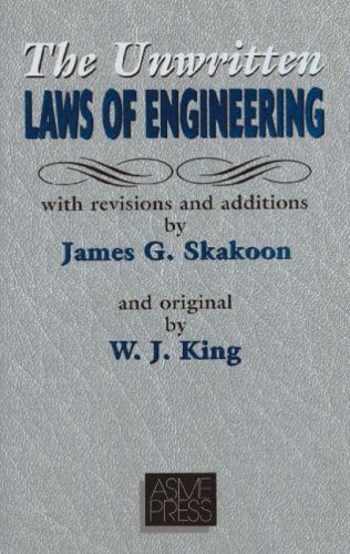 Unwritten Laws of Engineering  2nd 2001 edition cover