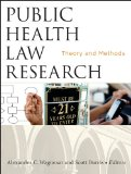 Public Health Law Research Theory and Methods  2013 edition cover
