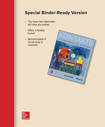 KONTAKTE-(LOOSELEAF)                    N/A 9781259692628 Front Cover
