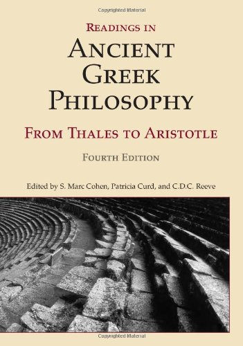 Readings in Ancient Greek Philosophy From Thales to Aristotle 4th 2011 edition cover