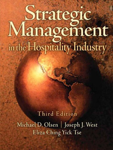 Strategic Management in the Hospitality Industry  3rd 2008 edition cover